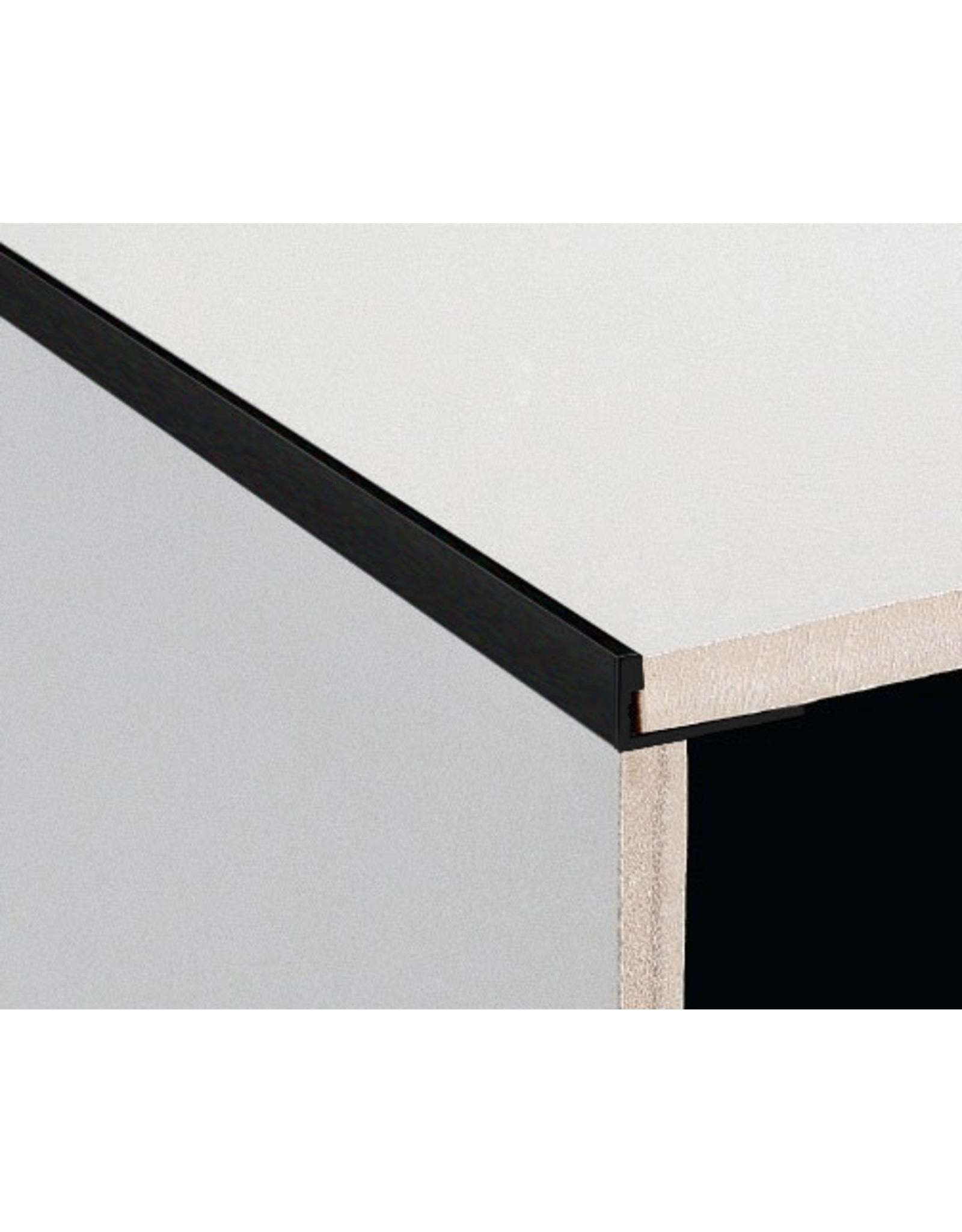 DTA 20mm DTA Aluminium L-Shape Trim Brushed Black
