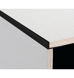DTA 25mm DTA Aluminium L-Shape Trim Brushed Black