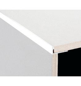 DTA 10mm DTA Aluminium L-Shape Trim Gloss White
