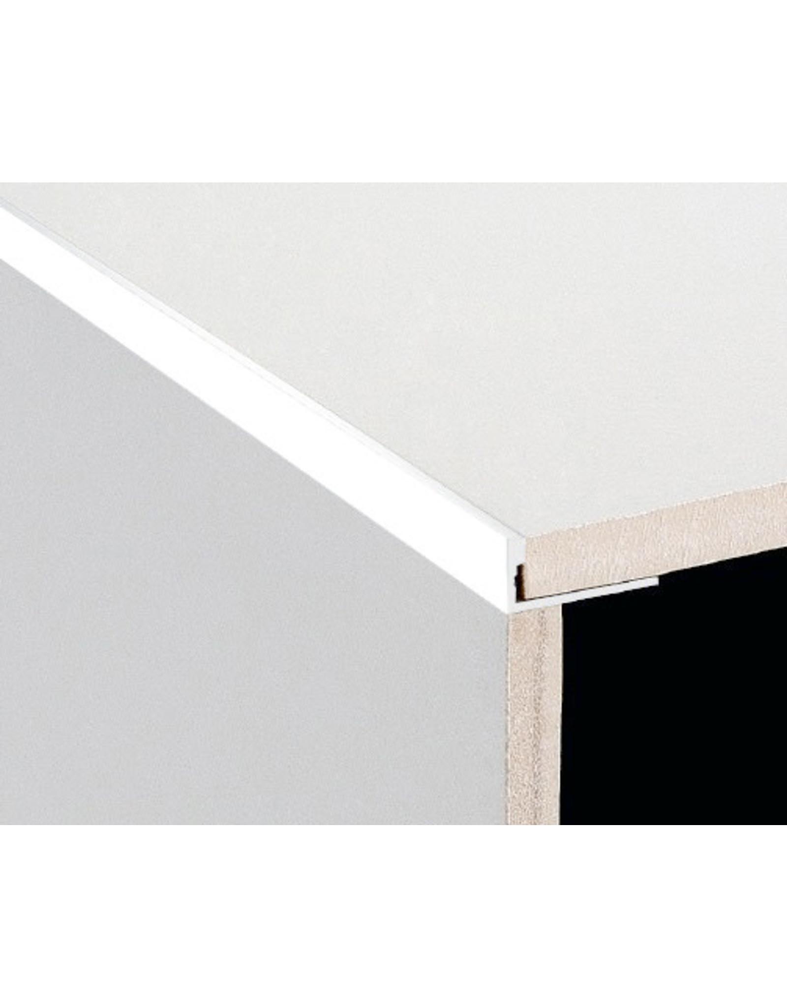 DTA 12mm DTA Aluminium L-Shape Trim Gloss White