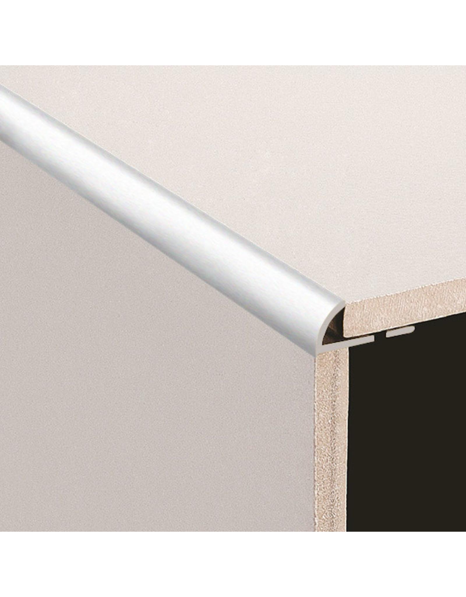 DTA 10mm DTA Aluminium Round Edge Trim Brushed Silver