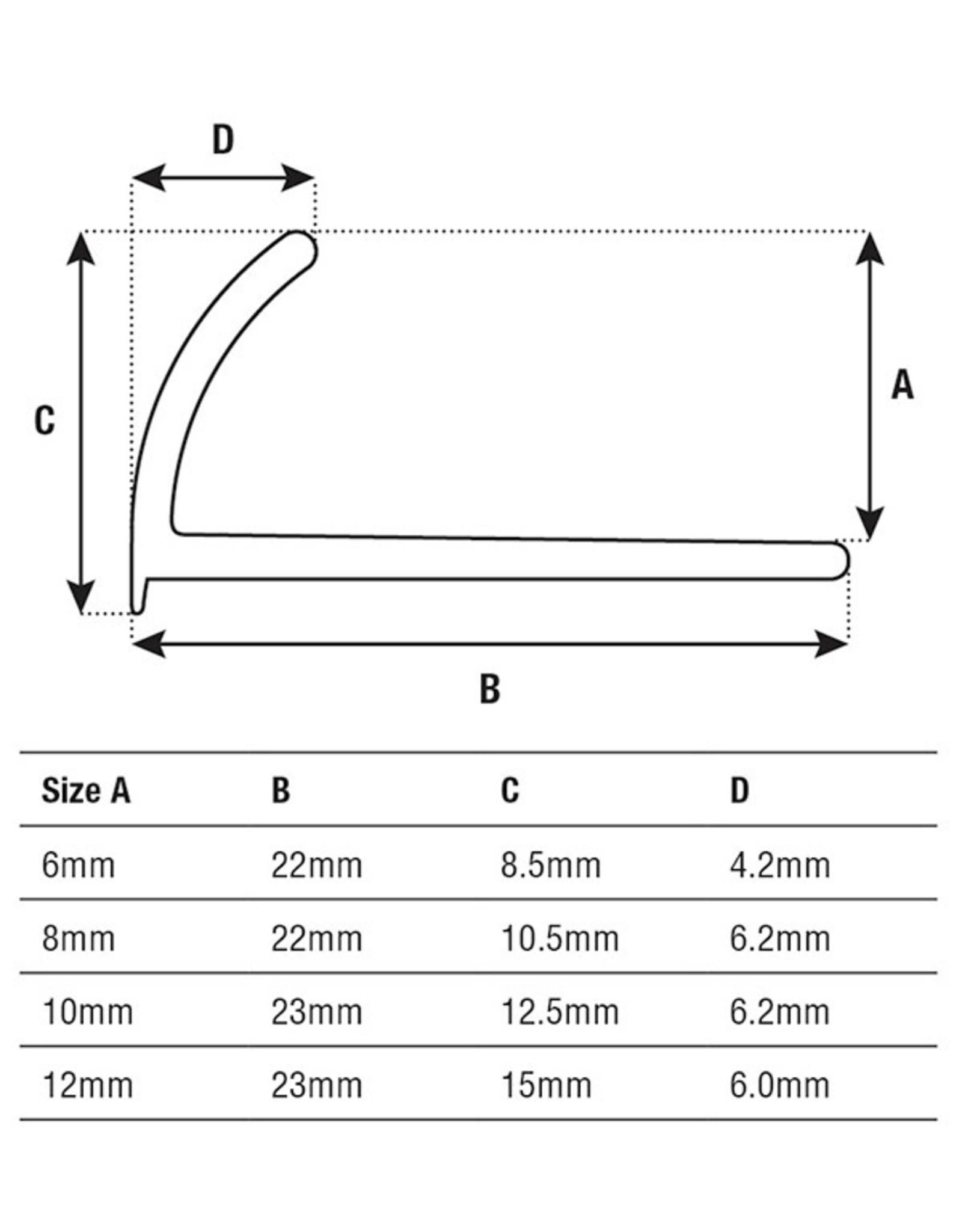 DTA 6mm DTA Aluminium Round Edge Trim Gloss White