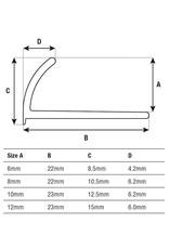 DTA 12mm DTA Aluminium Round Edge Trim Gloss White