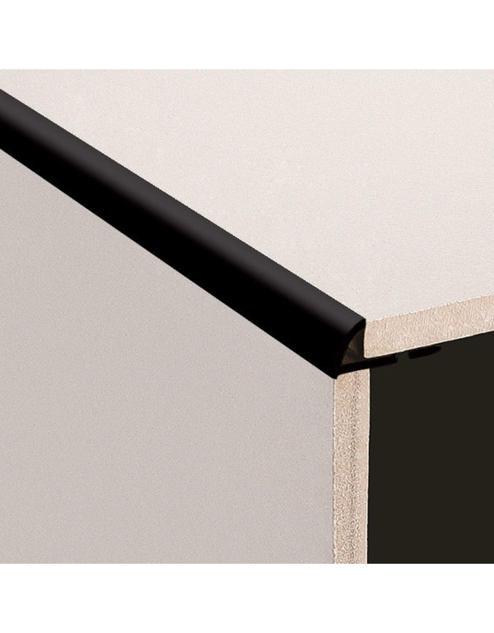 DTA 12mm DTA Aluminium Round Edge Trim Brushed Black