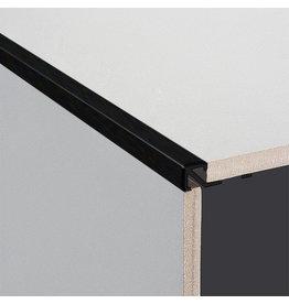 DTA 8mm DTA Aluminium Square Edge Trim Brushed Black