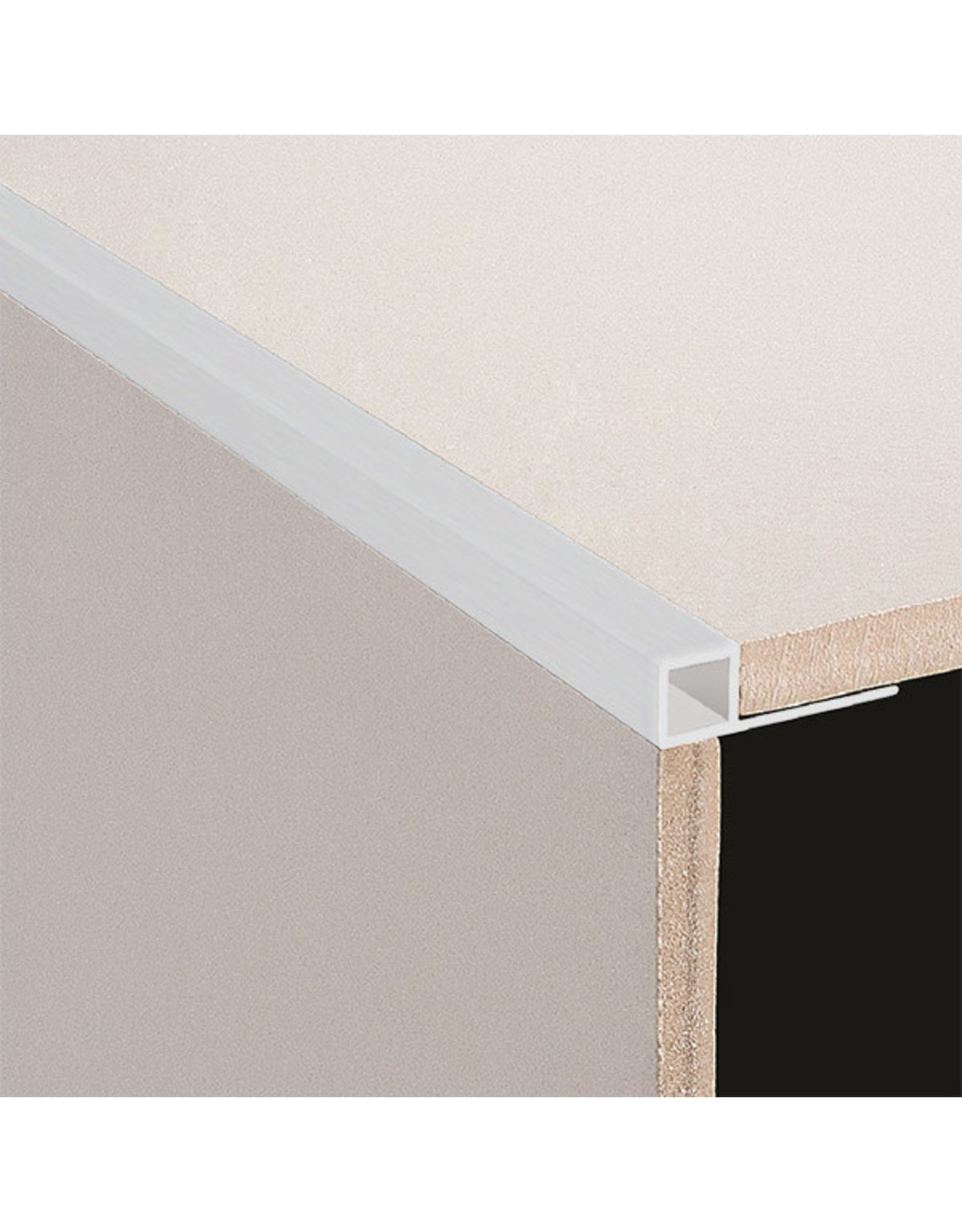 DTA 10mm DTA Aluminium Square Edge Trim Brushed Silver