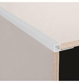 DTA 12mm DTA Aluminium Square Edge Trim Brushed Silver