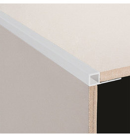 DTA 6mm DTA Aluminium Square Edge Trim Brushed Silver