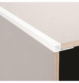 DTA 10mm DTA Aluminium Square Edge Trim, Gloss White