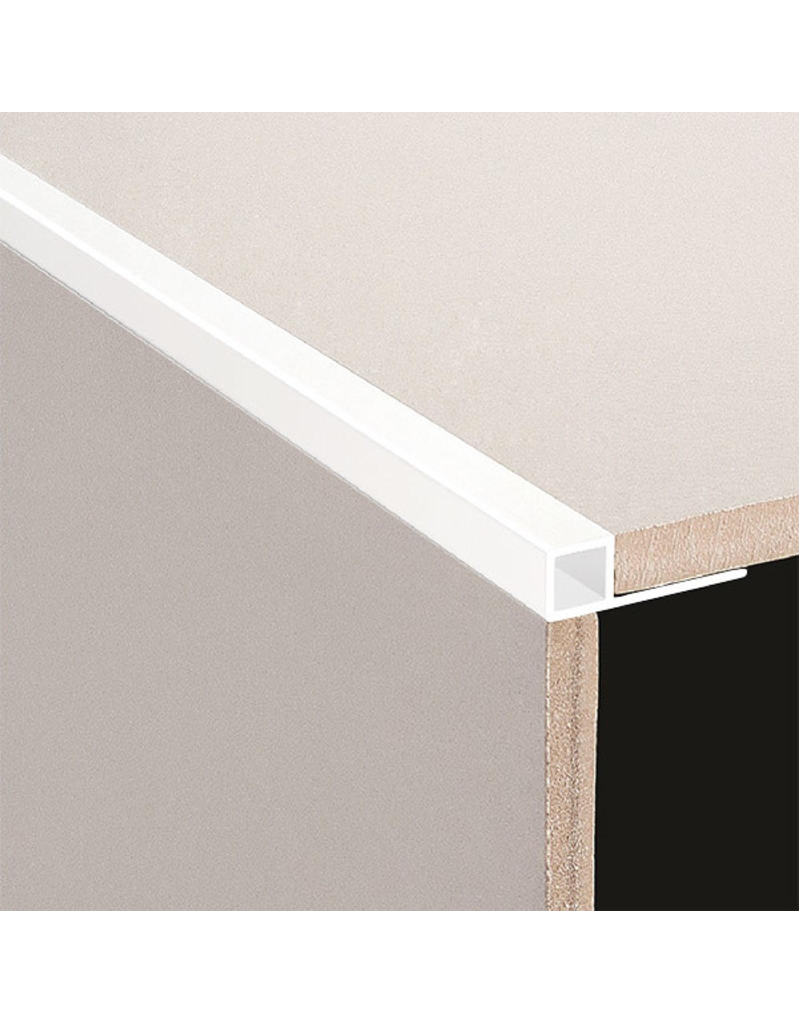 DTA 12mm DTA Aluminium Square Edge Trim, Gloss White