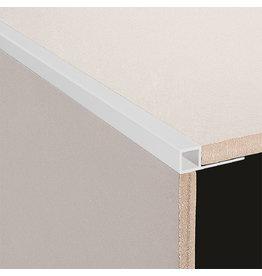 DTA 12mm DTA Aluminium Square edge trim, Matt Silver