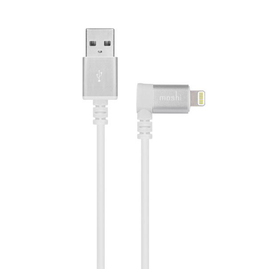 Moshi Moshi Lightning to USB Cable with 90-degree connector - White
