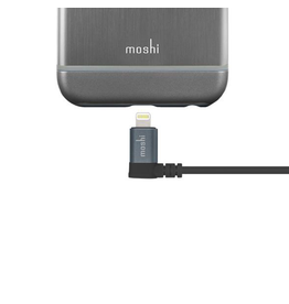 Moshi Moshi Lightning to USB Cable with 90-degree connector - Black