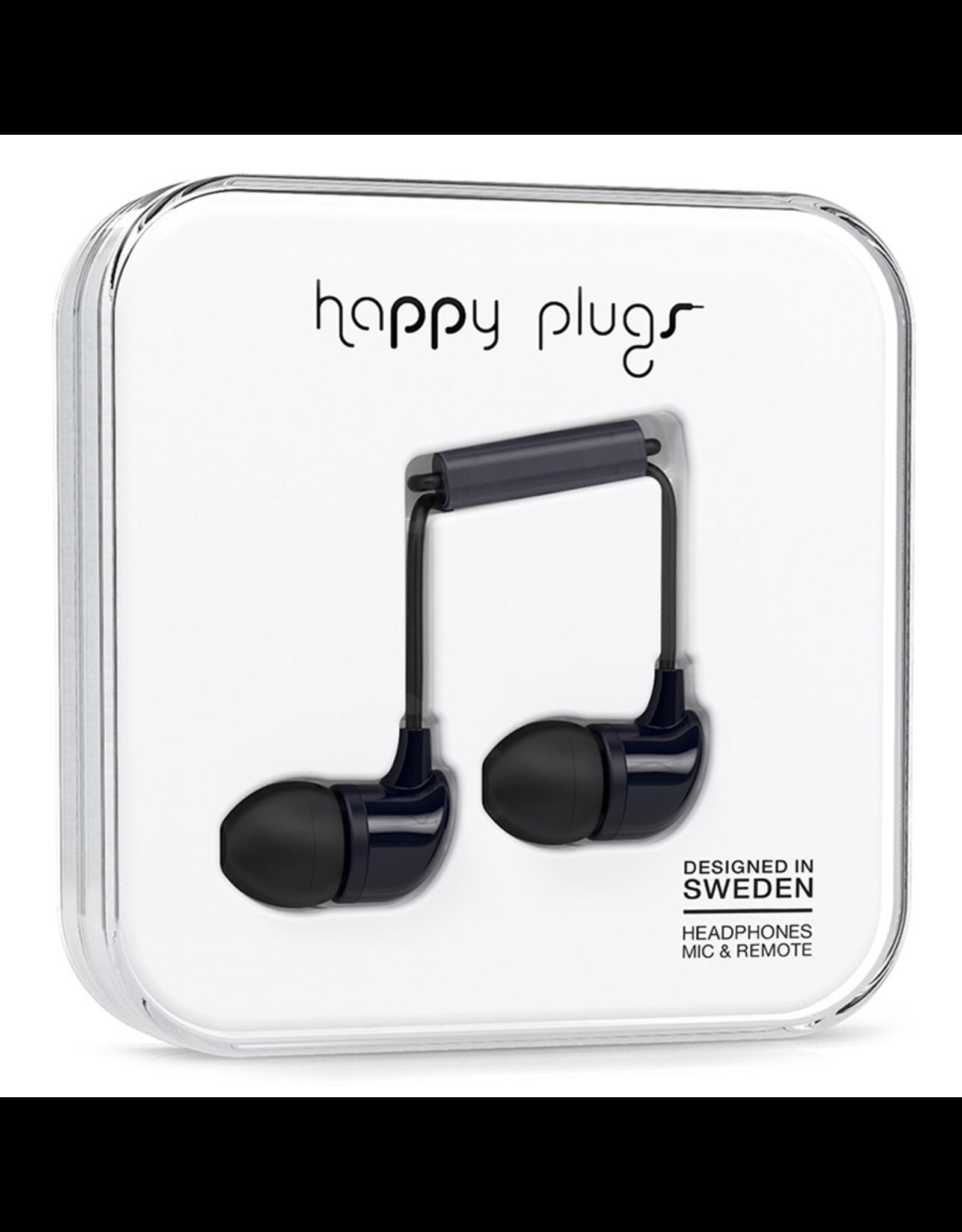 Happy Plugs Happy Plugs In-Ear Black EOL