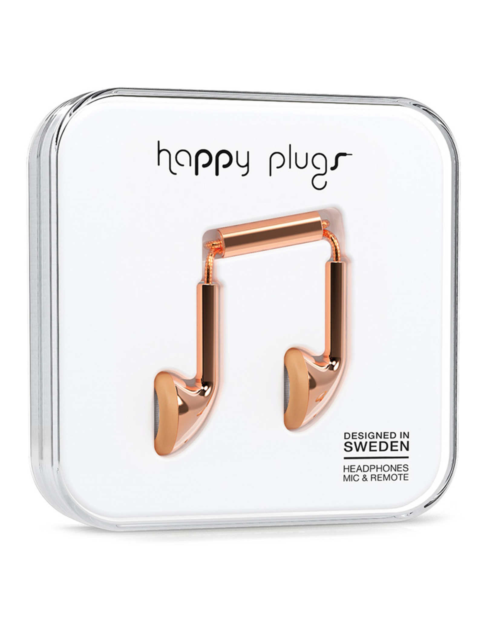 Happy Plugs Happy Plugs Earbud Rose Gold EOL
