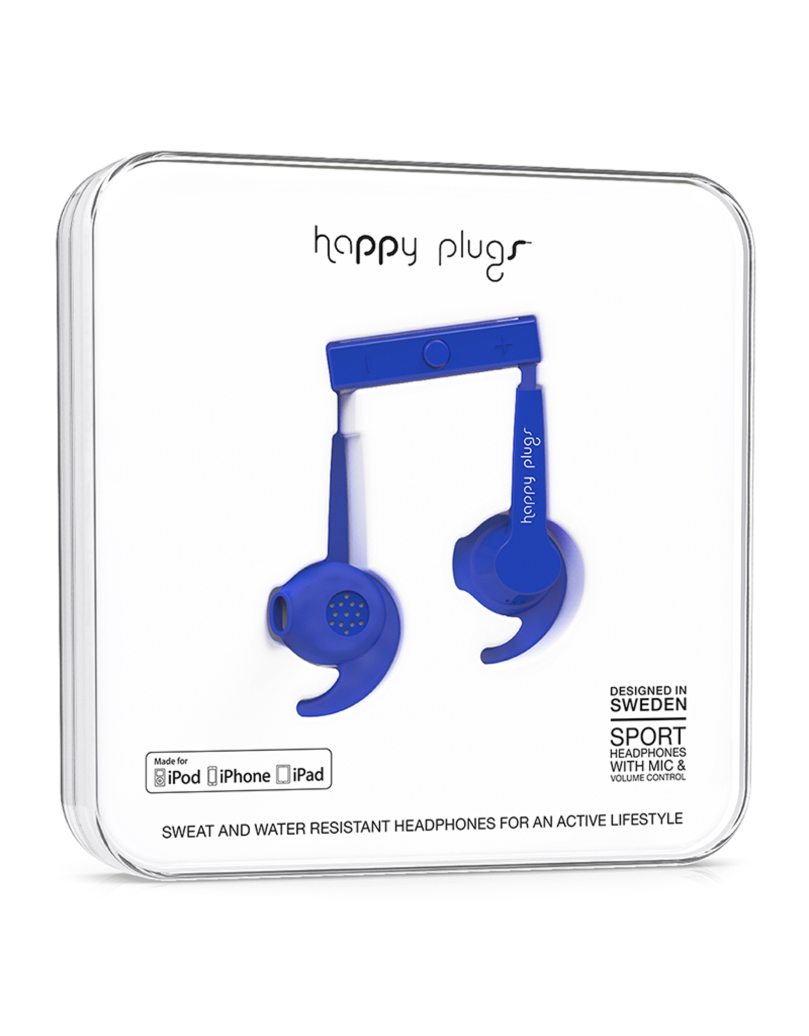 Happy Plugs Happy Plugs Sport Headphones - Cobalt EOL