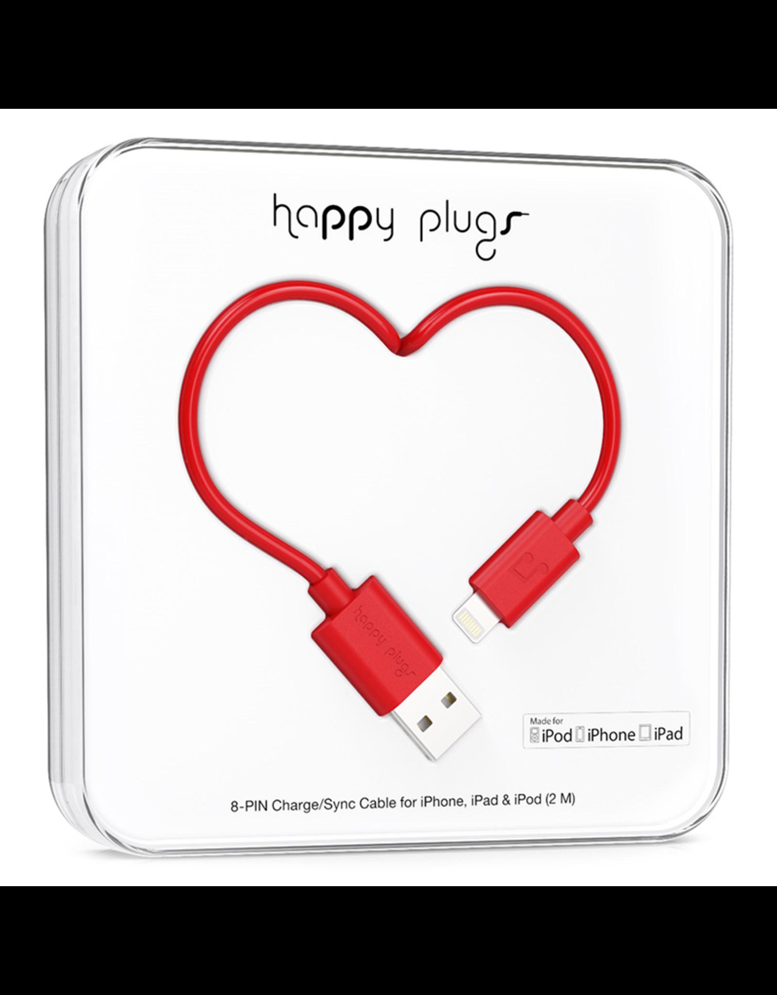 Happy Plugs Happy Plugs Lightning to USB Red EOL