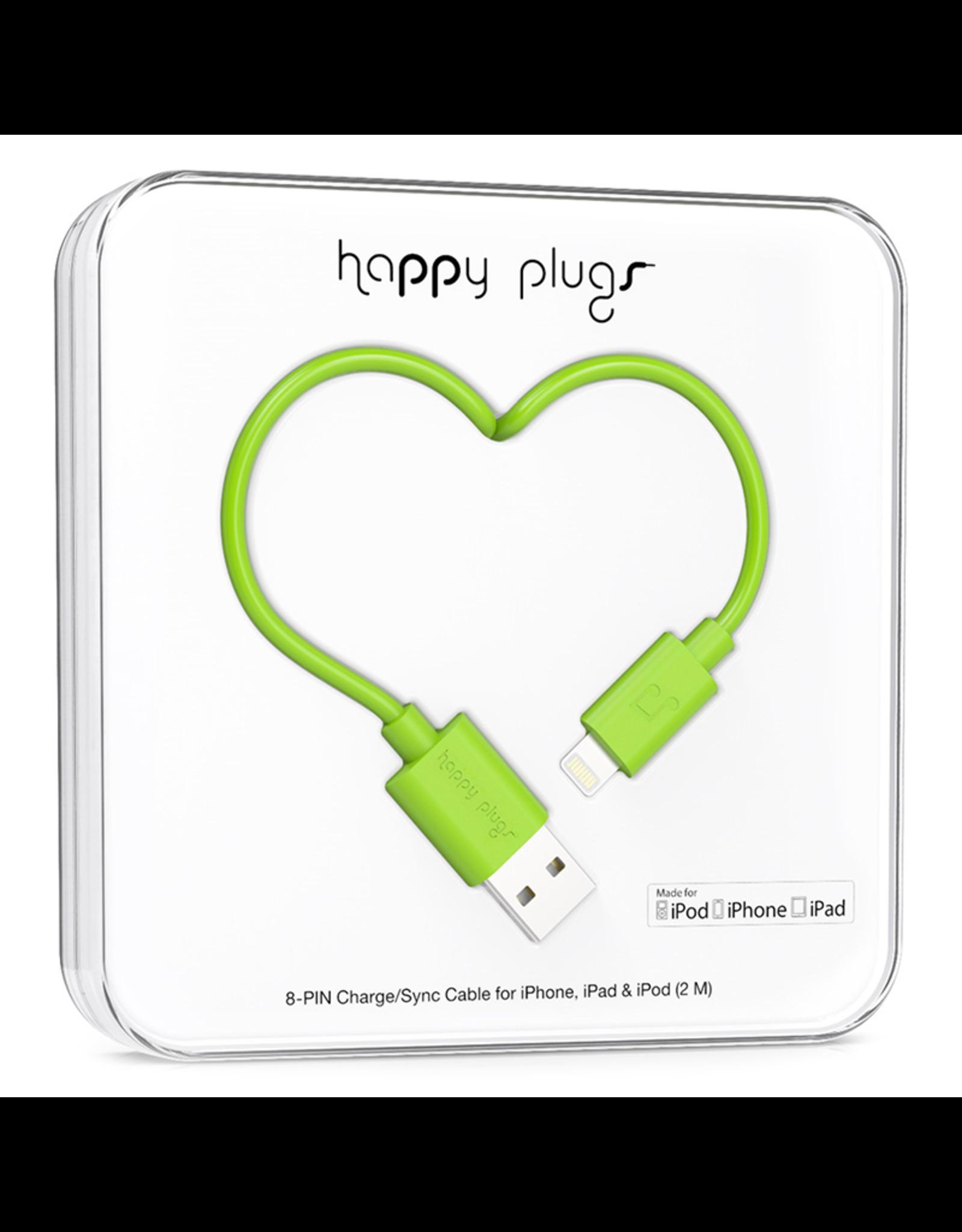 Happy Plugs Happy Plugs Lightning to USB Green EOL