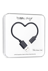 Happy Plugs Happy Plugs Lightning to USB Black EOL