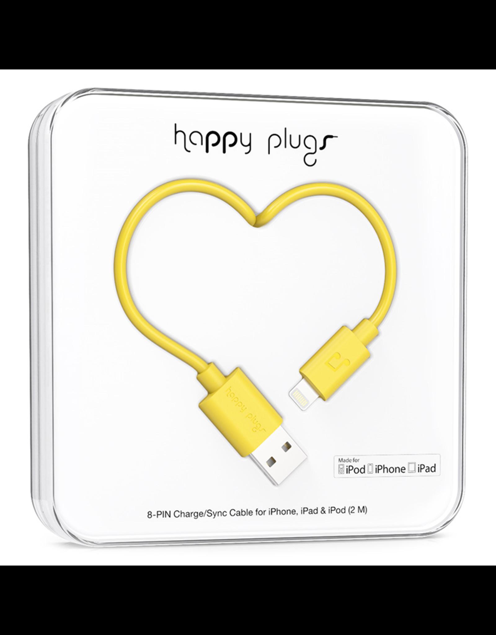 Happy Plugs Happy Plugs Lightning to USB Yellow EOL