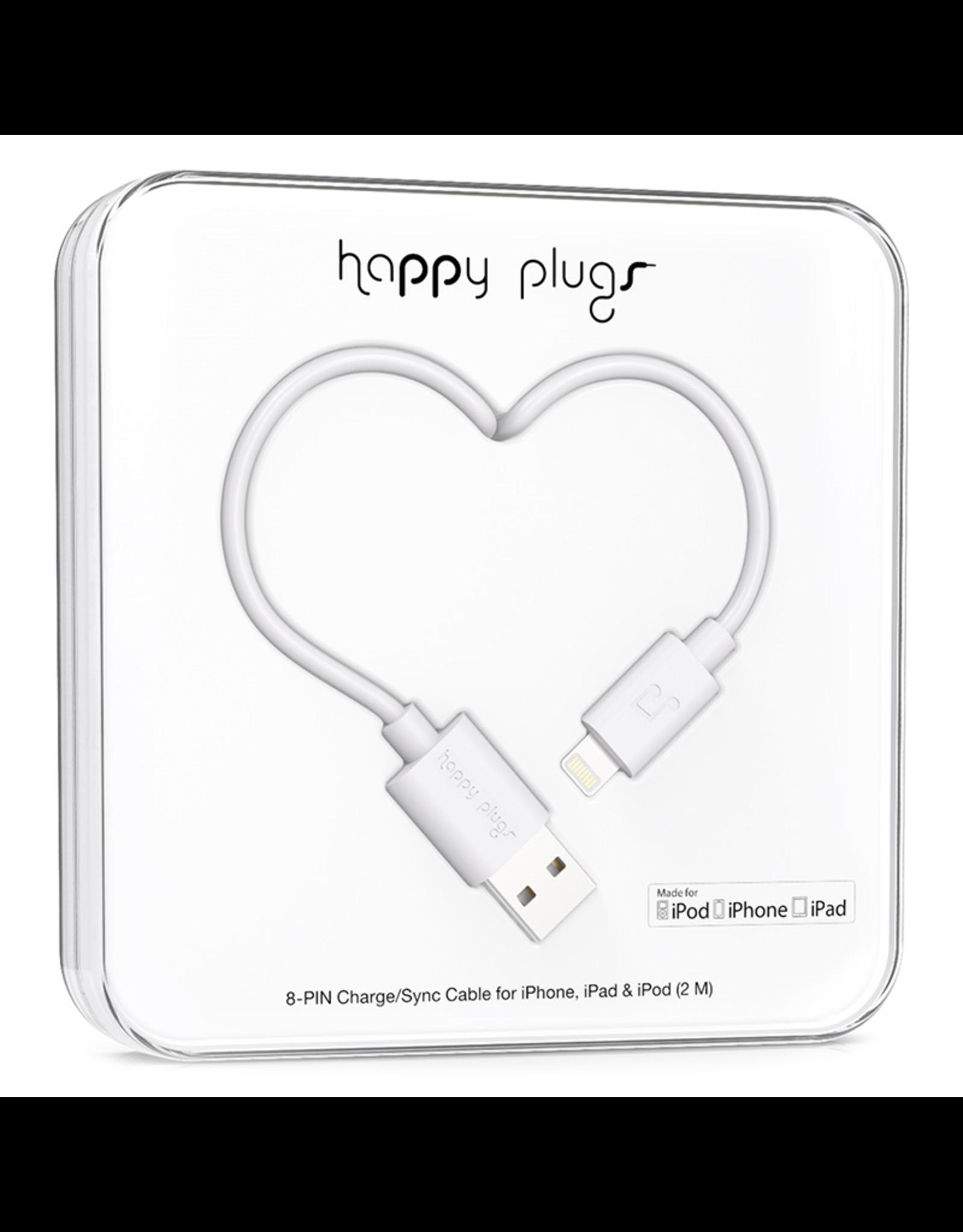 Happy Plugs Happy Plugs Lightning to USB White EOL