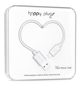 Happy Plugs Happy Plugs Lightning to USB White EOL