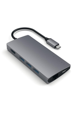 Satechi Satechi Type-C Multi-port adapter V2 4K HDMI, pass-through charging, Ethernet, three USB Type-A ports, and SD and Micro SD Card slots - Space Grey