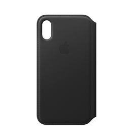 Apple Apple iPhone XS Leather Folio Black