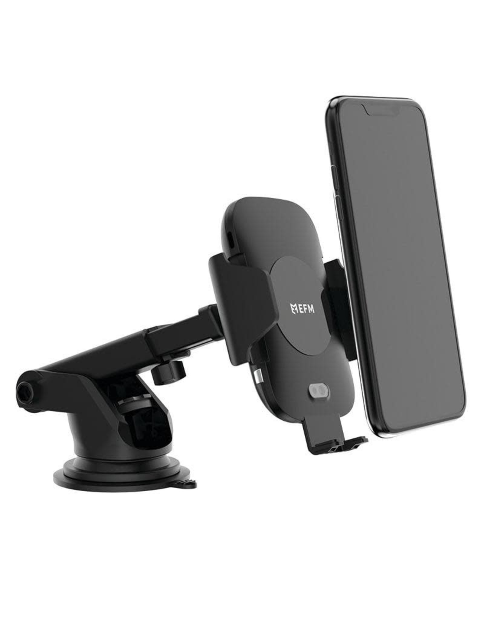 EFM EFM 15w Automatic Wireless Charging Car Mount - windscreen and vent clip