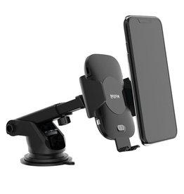 EFM EFM 15w Automatic Wireless Charging Car Mount - windscreen and vent clip