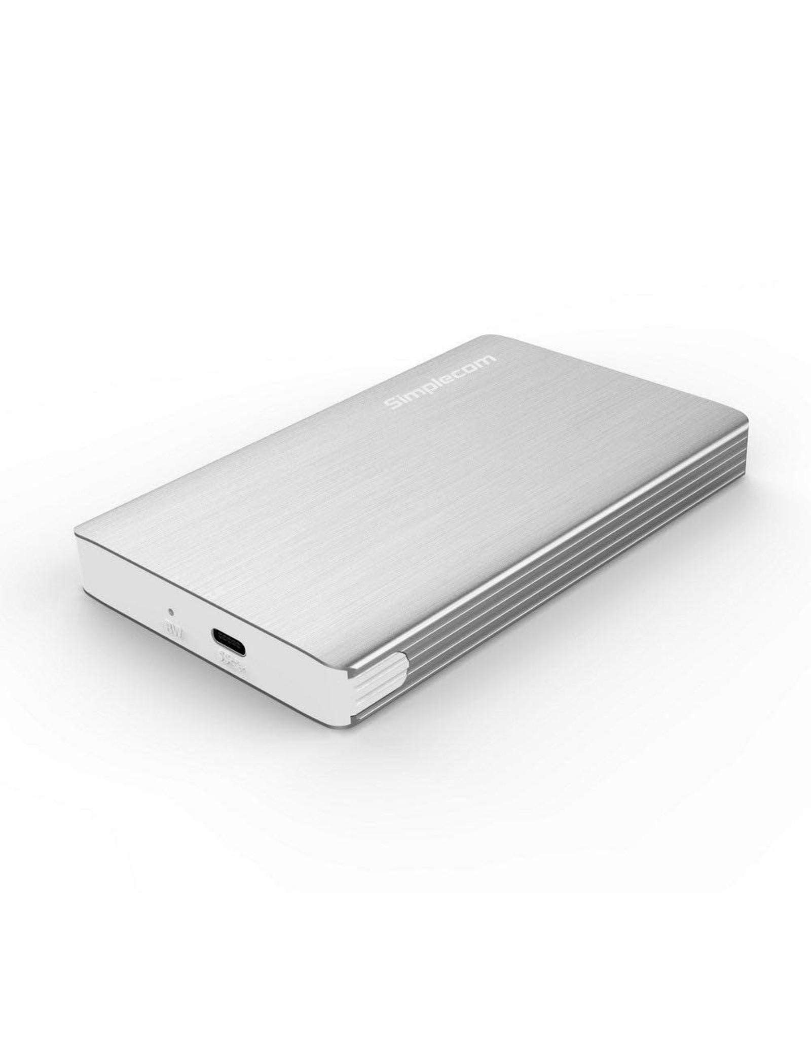 Simplecom Simplecom SE220 Aluminium Tool-Free 2.5'' SATA HDD/SSD to USB-C Enclosure - SILVER