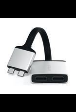 Satechi Satechi Type-C Dual HDMI Adaptor (Silver)