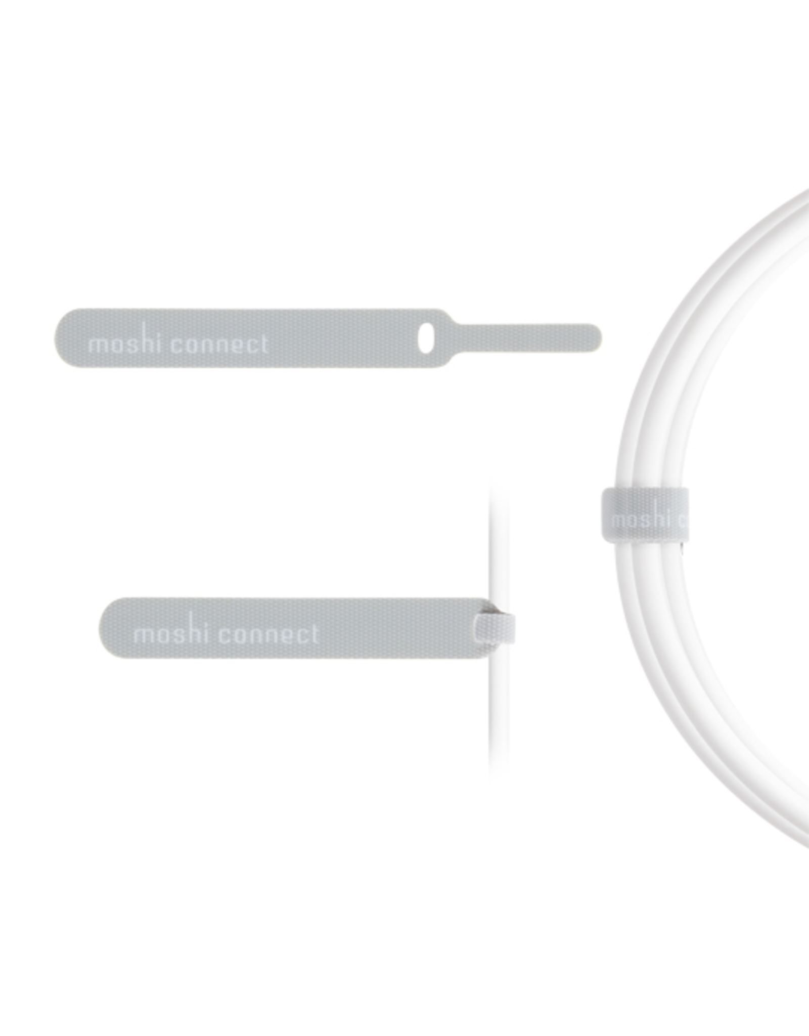 Moshi Moshi Lightning Connector to USB 2.0 Cable - 3 metre White (Apple licensed)