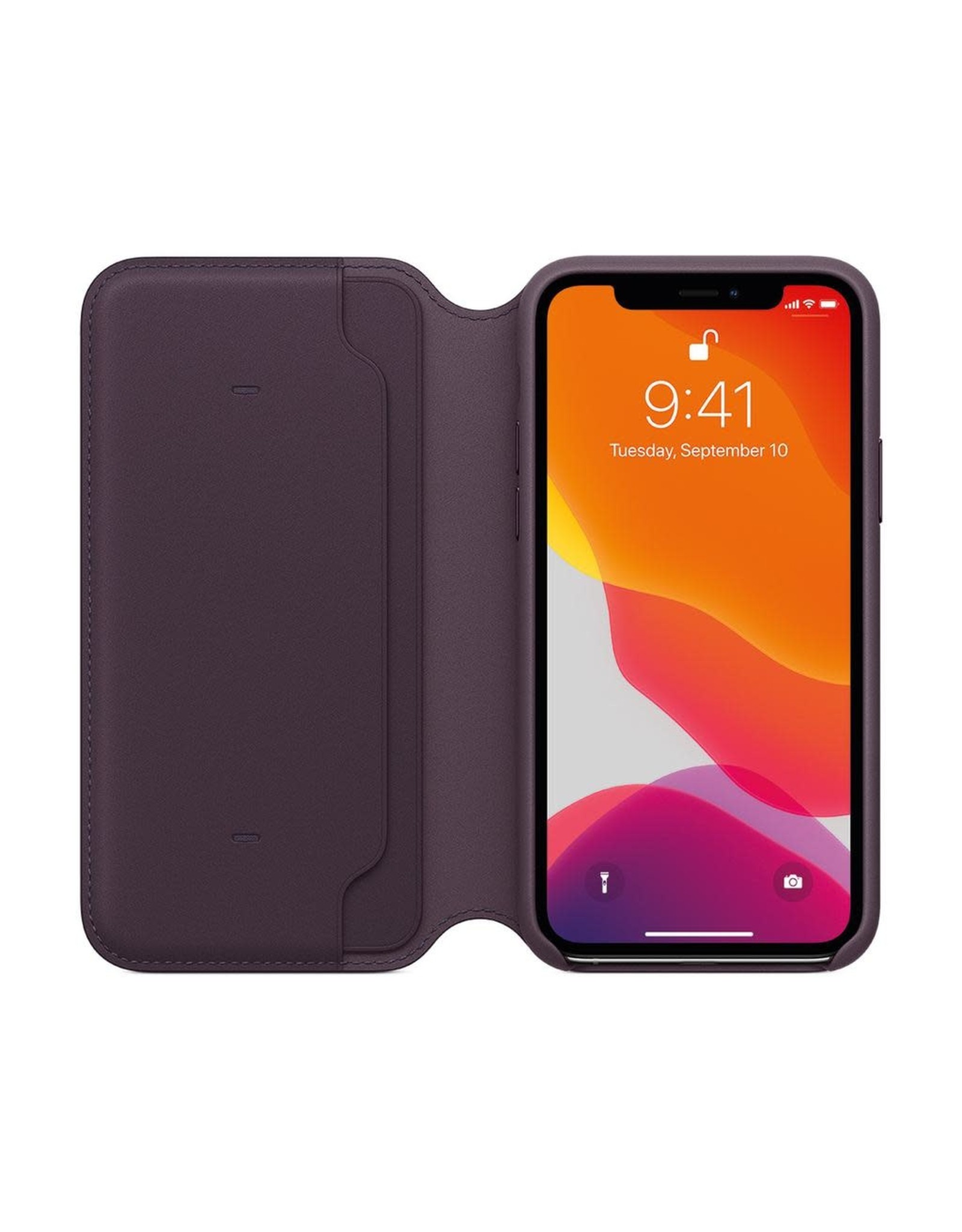Apple Apple iPhone 11 Pro Leather Folio - AUBERGINE