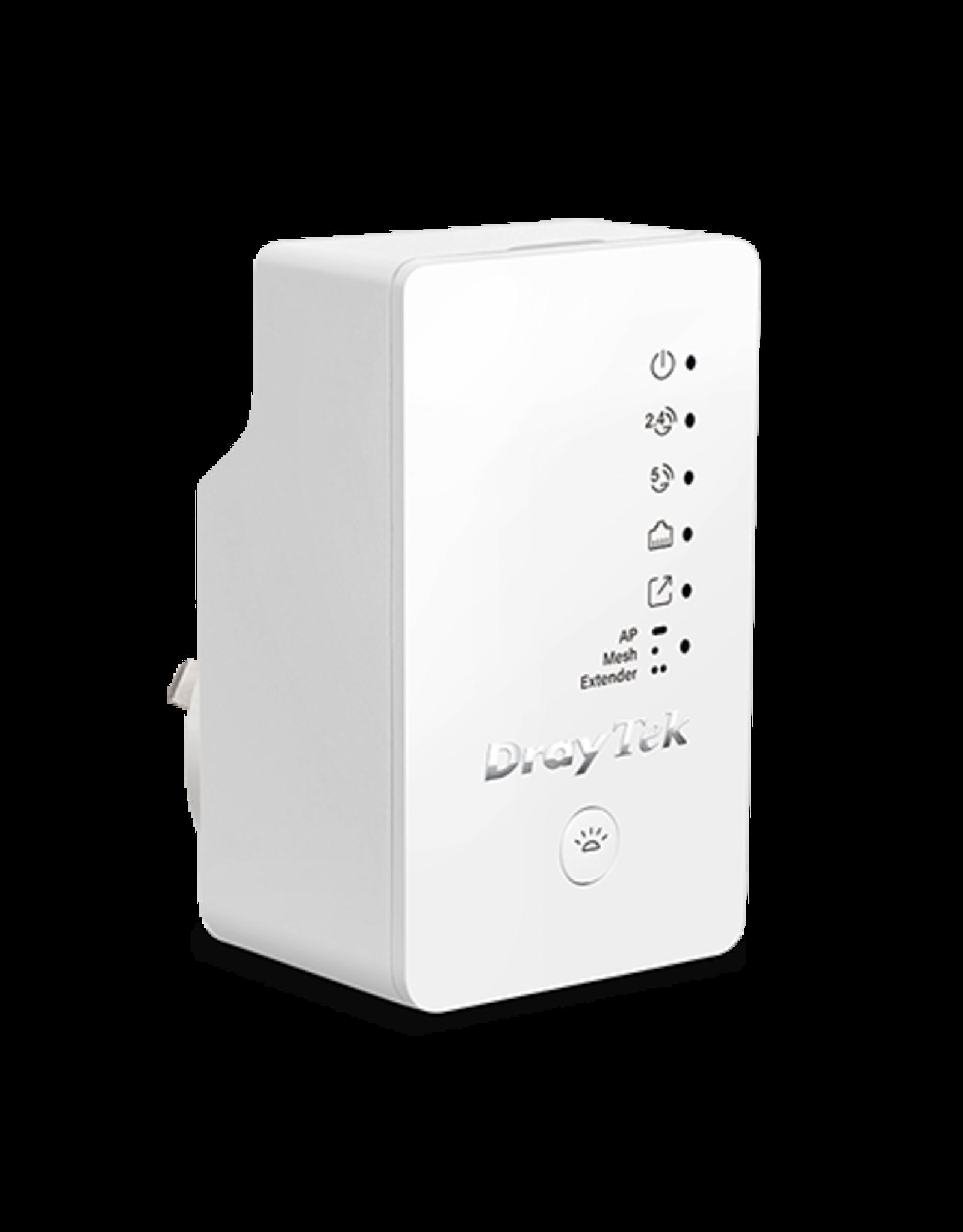 Draytek Draytek VigorAP 802 802.11ac Wave 2 Range Extender/Access Point with Mesh Wi-Fi and wall plug housing
