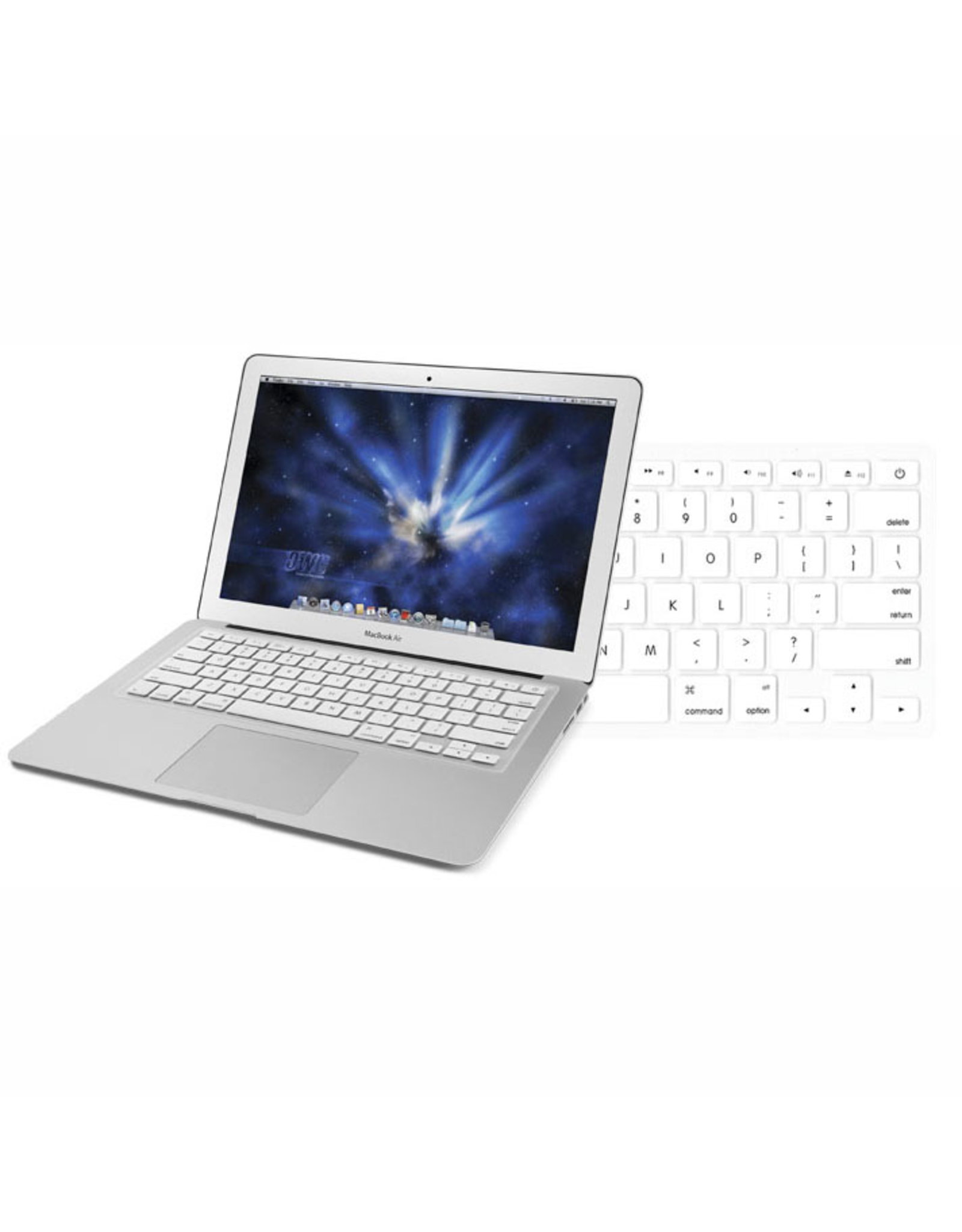 """Newertech NewerTech NuGuard Keyboard Cover Silicone Skin for 2010/11 MacBook Air 13"""" - White"""