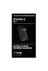 NVS NVS Screen Guard 3 pack for iPhone 6 - Ultra Clear EOL