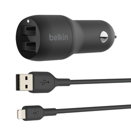 Belkin Belkin Boost↑CHARGE™ Dual USB-A Car Charger 24W + USB-A to Lightning Cable