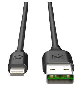 EFM EFM MFi Approved Flipper Lightning Cable 2M - Black