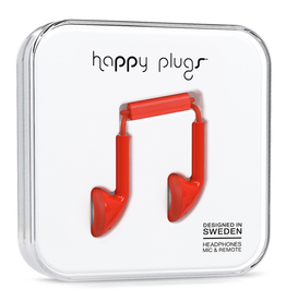 Happy Plugs Happy Plugs Earbud Red EOL