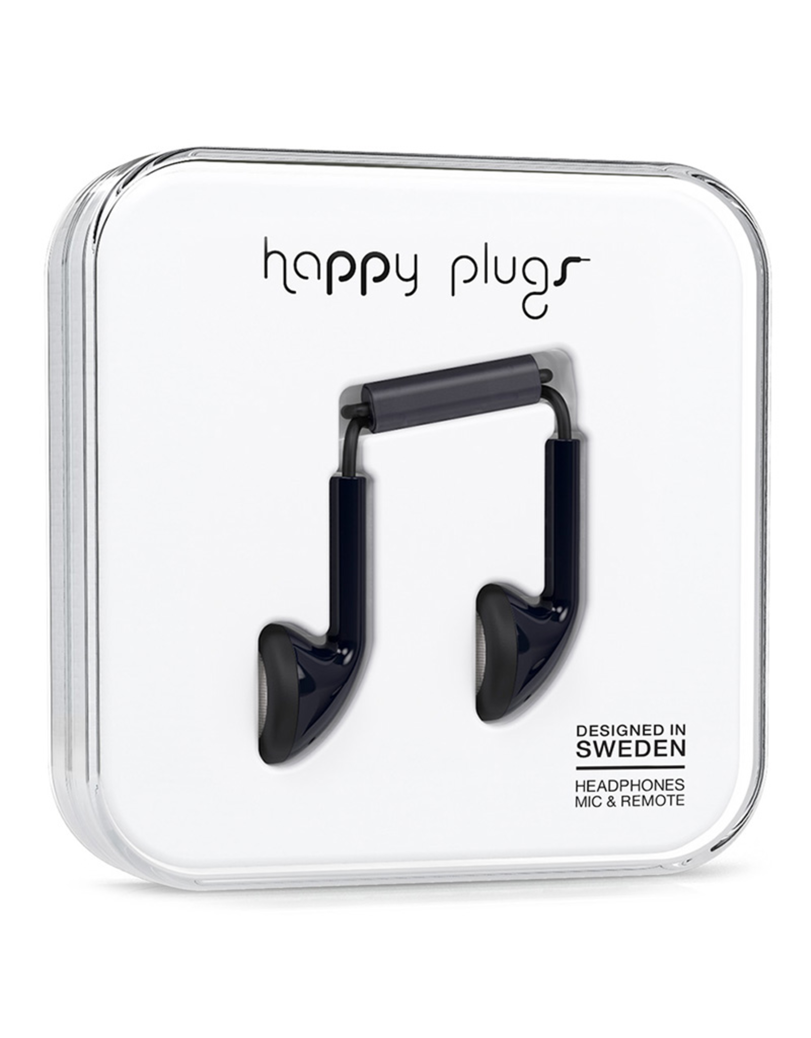 Happy Plugs Happy Plugs Earbud Black EOL
