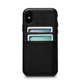 Sena Sena Bence Snap-on Leather Wallet case for iPhone X - Black EOL