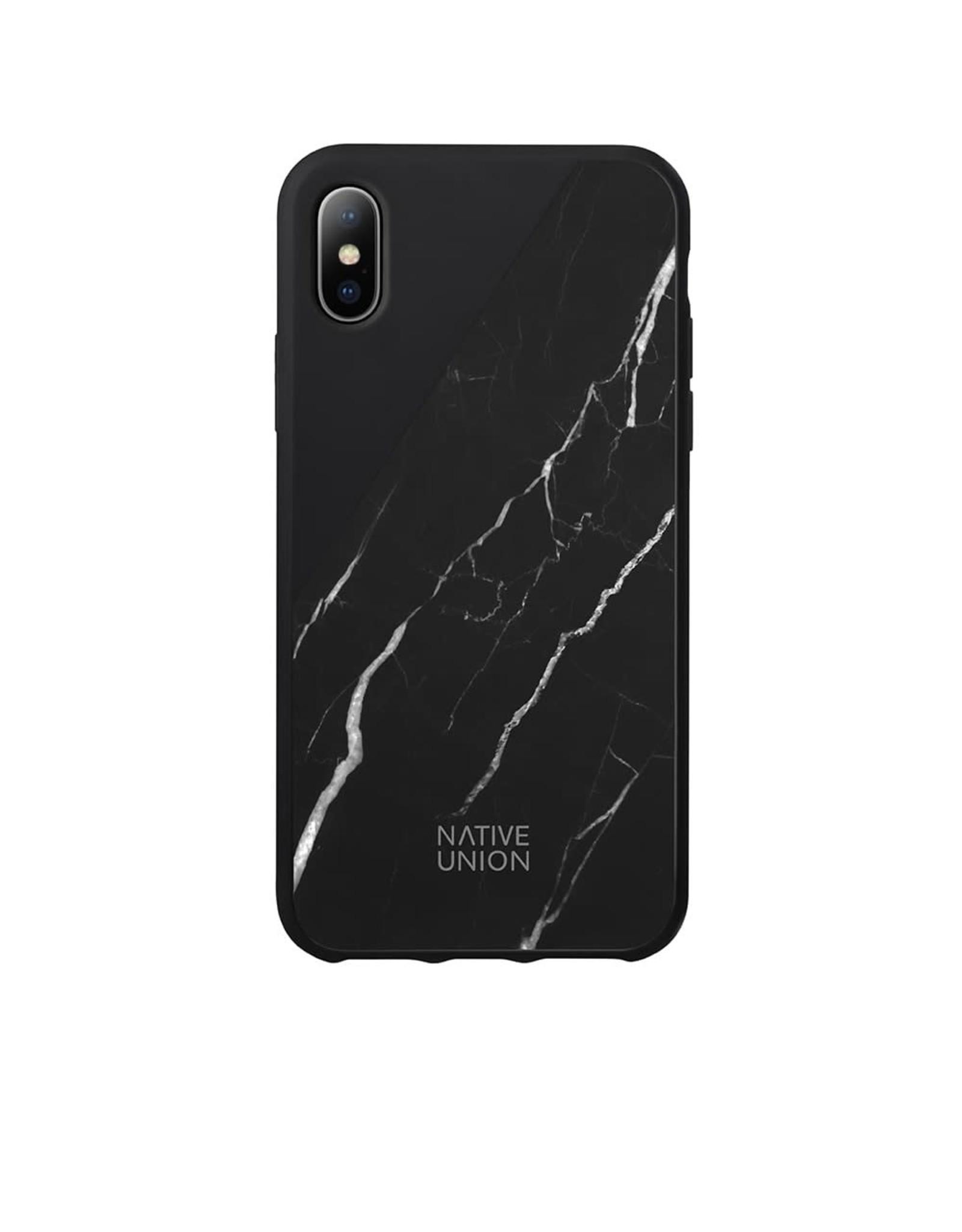 Native Union Native Union iPhone X Clic Marble - Black EOL