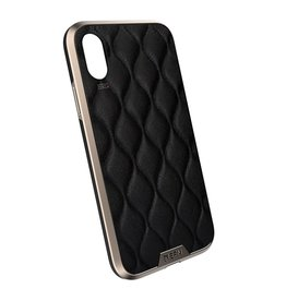 EFM EFM Verona Clear D3O Case Armour suits New iPhone Xr  - Gold/Leather Emboss EOL