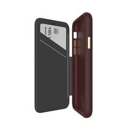 EFM EFM Monaco D3O Leather Wallet Case suits New iPhone Xr  - Mulberry/Gold EOL