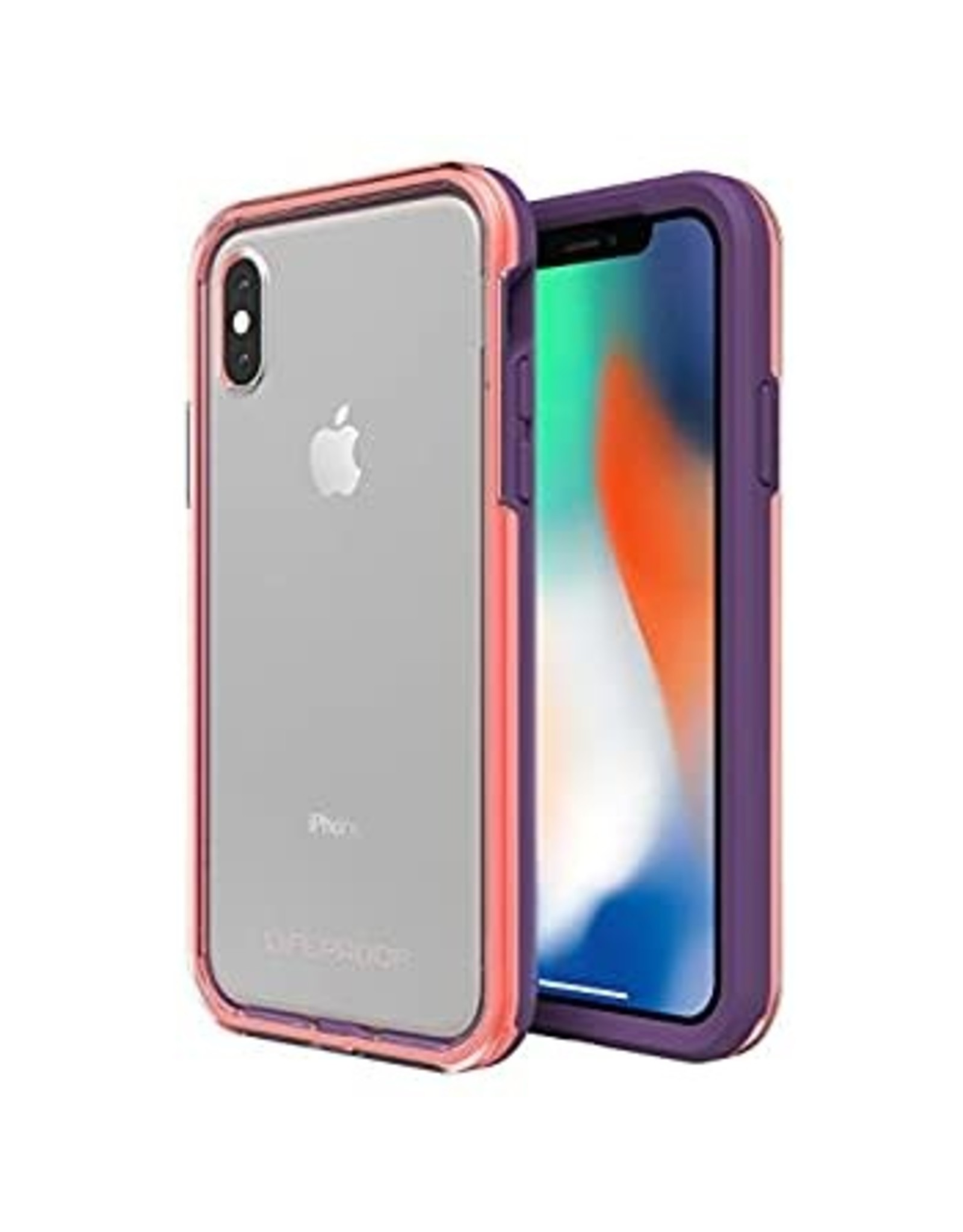 Lifeproof LifeProof Slam Case suits iPhone X - Clear/Coral/Lilac EOL