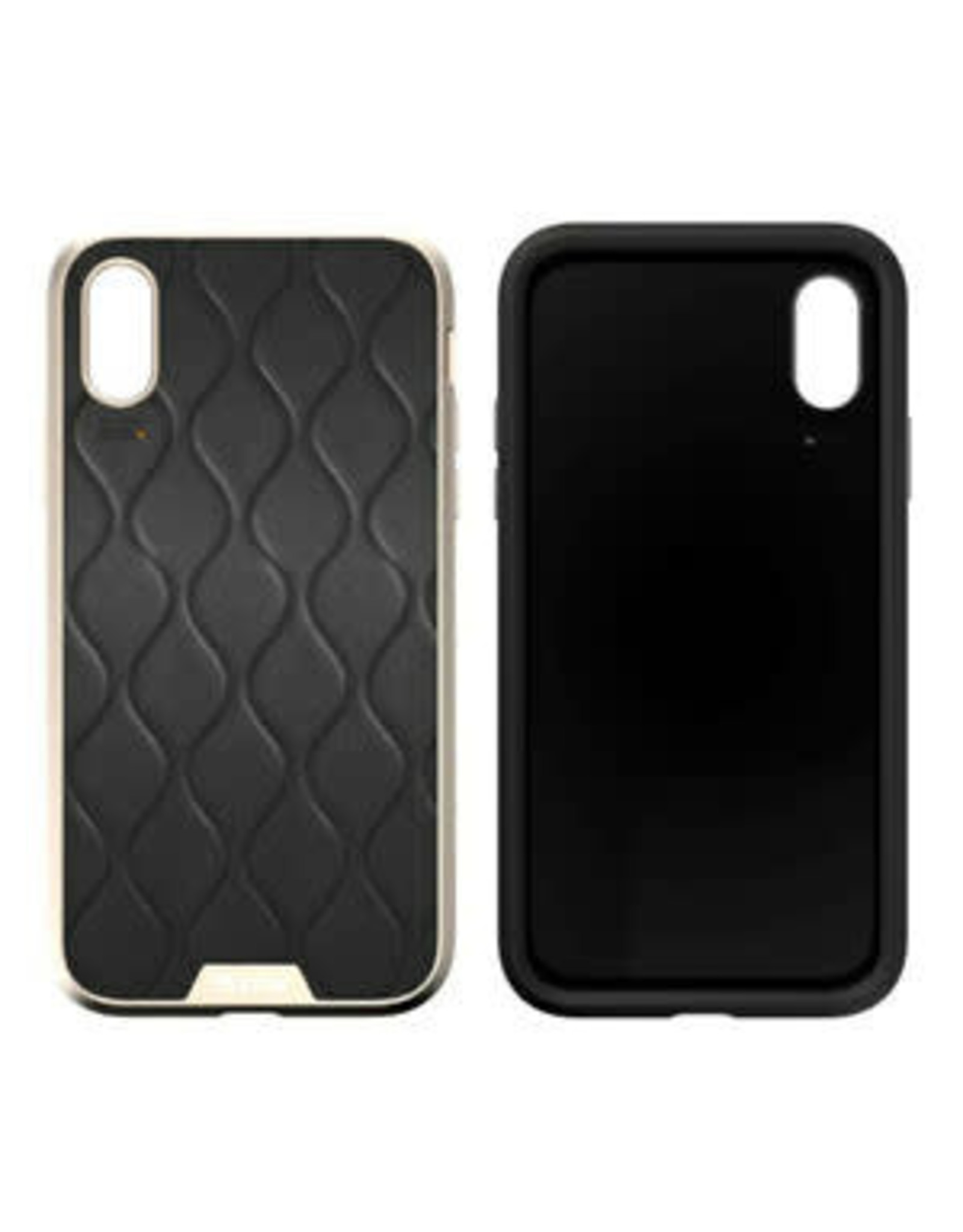 EFM EFM Verona Clear D3O Case Armour suits New iPhone Xs Max  - Gold/Leather Emboss EOL