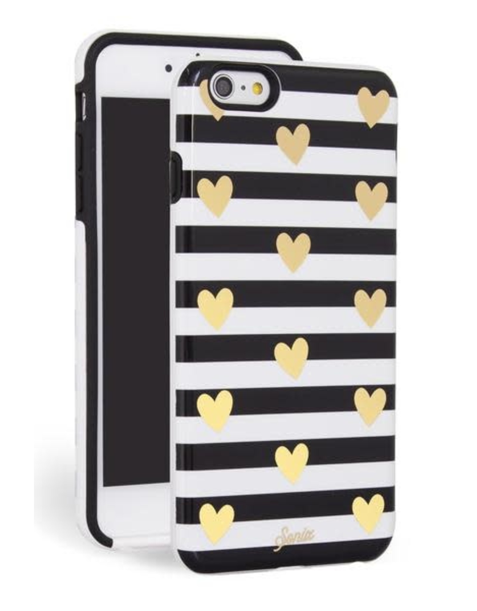 Sonix Sonix Inlay for iPhone 6/6s Plus - Heart Stripe Gold EOL