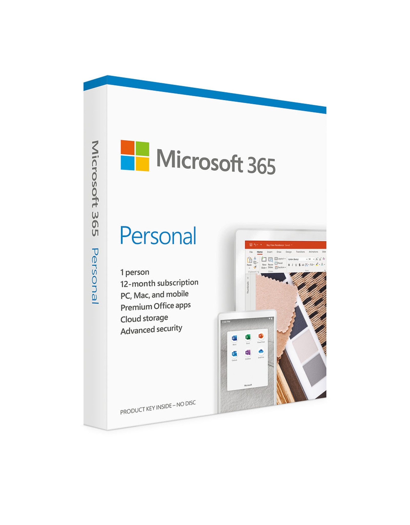 Microsoft Microsoft 365 Personal - Word, Excel, Powerpoint, Notes, Outlook - 1 peron - 1TB One Drive cloud storage