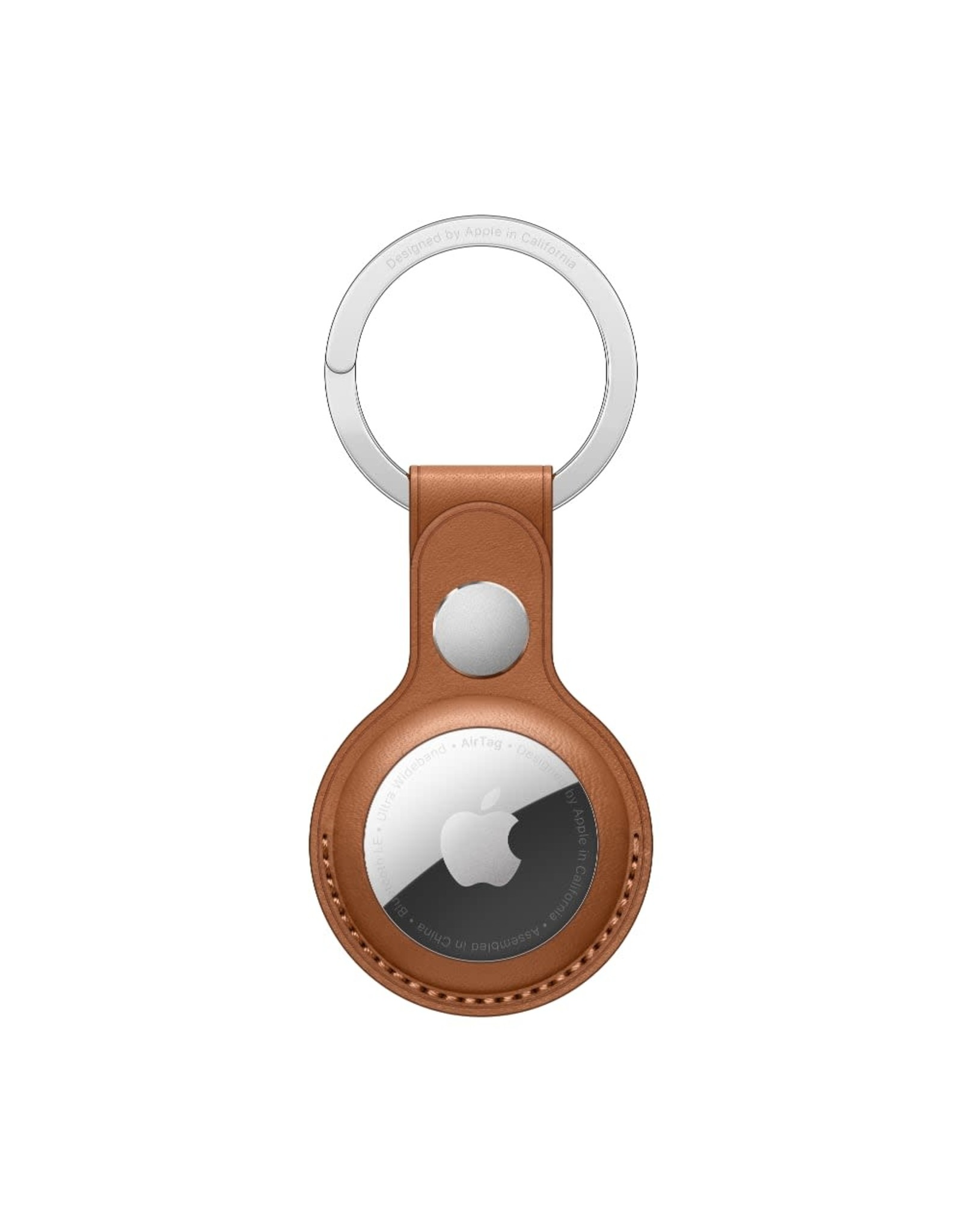 Apple Apple AirTag Leather Key Ring - Saddle Brown